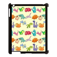 Group Of Funny Dinosaurs Graphic Apple iPad 3/4 Case (Black)