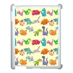 Group Of Funny Dinosaurs Graphic Apple iPad 3/4 Case (White)