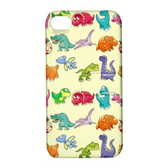 Group Of Funny Dinosaurs Graphic Apple iPhone 4/4S Hardshell Case with Stand