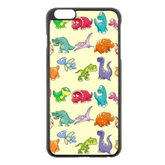Group Of Funny Dinosaurs Graphic Apple iPhone 6 Plus/6S Plus Black Enamel Case