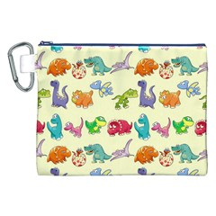 Group Of Funny Dinosaurs Graphic Canvas Cosmetic Bag (XXL)