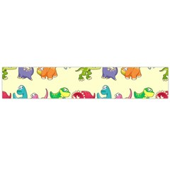 Group Of Funny Dinosaurs Graphic Flano Scarf (Large)