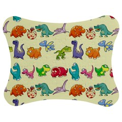 Group Of Funny Dinosaurs Graphic Jigsaw Puzzle Photo Stand (Bow)