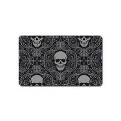 Dark Horror Skulls Pattern Magnet (Name Card)