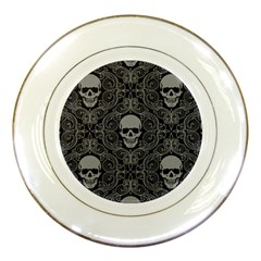Dark Horror Skulls Pattern Porcelain Plates