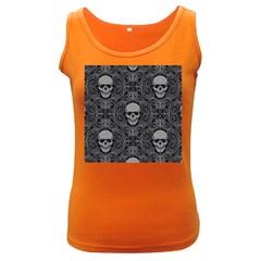 Dark Horror Skulls Pattern Women s Dark Tank Top