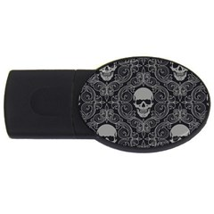 Dark Horror Skulls Pattern USB Flash Drive Oval (4 GB)