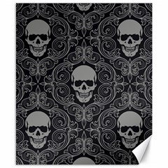 Dark Horror Skulls Pattern Canvas 8  x 10