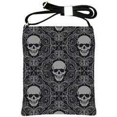 Dark Horror Skulls Pattern Shoulder Sling Bags