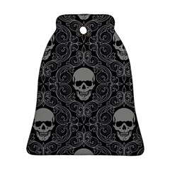 Dark Horror Skulls Pattern Ornament (Bell)