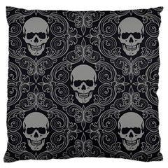 Dark Horror Skulls Pattern Large Cushion Case (Two Sides)