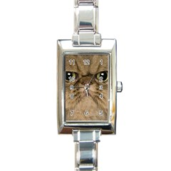 Cute Persian Catface In Closeup Rectangle Italian Charm Watch