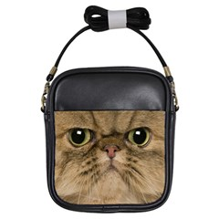 Cute Persian Catface In Closeup Girls Sling Bags