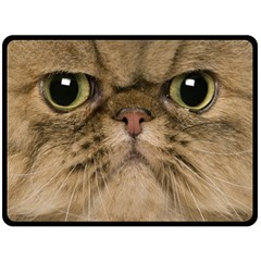 Cute Persian Catface In Closeup Fleece Blanket (Large)