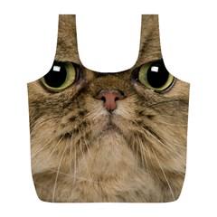 Cute Persian Catface In Closeup Full Print Recycle Bags (L)