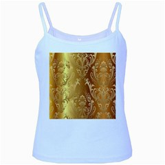 Golden Pattern Vintage Gradient Vector Baby Blue Spaghetti Tank
