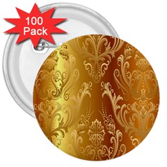 Golden Pattern Vintage Gradient Vector 3  Buttons (100 pack)