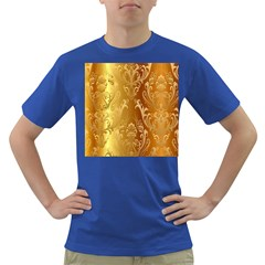 Golden Pattern Vintage Gradient Vector Dark T-Shirt