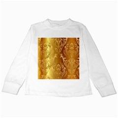 Golden Pattern Vintage Gradient Vector Kids Long Sleeve T-Shirts