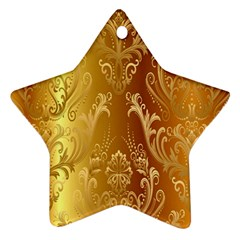 Golden Pattern Vintage Gradient Vector Star Ornament (Two Sides)