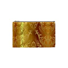 Golden Pattern Vintage Gradient Vector Cosmetic Bag (Small)