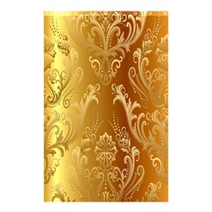 Golden Pattern Vintage Gradient Vector Shower Curtain 48  x 72  (Small)
