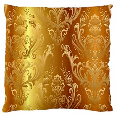 Golden Pattern Vintage Gradient Vector Large Cushion Case (Two Sides)