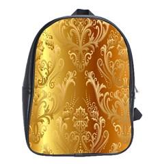 Golden Pattern Vintage Gradient Vector School Bags (XL)