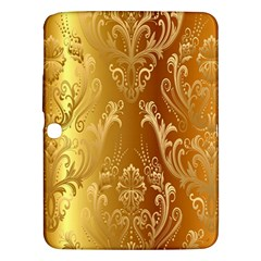 Golden Pattern Vintage Gradient Vector Samsung Galaxy Tab 3 (10.1 ) P5200 Hardshell Case