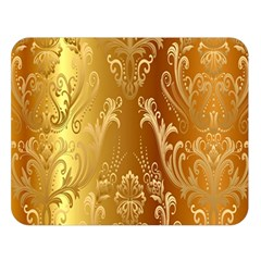 Golden Pattern Vintage Gradient Vector Double Sided Flano Blanket (Large)