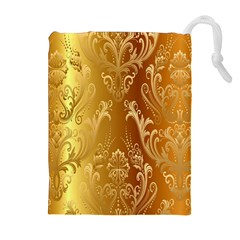 Golden Pattern Vintage Gradient Vector Drawstring Pouches (Extra Large)