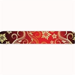Golden Swirls Floral Pattern Small Bar Mats