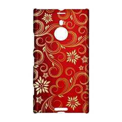 Golden Swirls Floral Pattern Nokia Lumia 1520