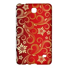 Golden Swirls Floral Pattern Samsung Galaxy Tab 4 (7 ) Hardshell Case