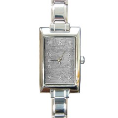 Embossed Rose Pattern Rectangle Italian Charm Watch