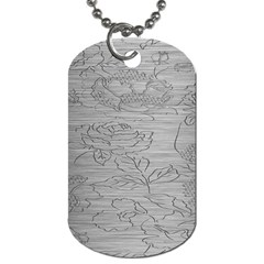 Embossed Rose Pattern Dog Tag (One Side)