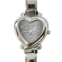 Embossed Rose Pattern Heart Italian Charm Watch