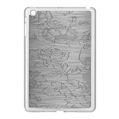 Embossed Rose Pattern Apple iPad Mini Case (White)