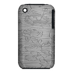 Embossed Rose Pattern iPhone 3S/3GS