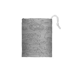 Embossed Rose Pattern Drawstring Pouches (XS)