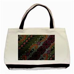 Batik Art Pattern  Basic Tote Bag (Two Sides)