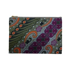 Batik Art Pattern  Cosmetic Bag (Large)