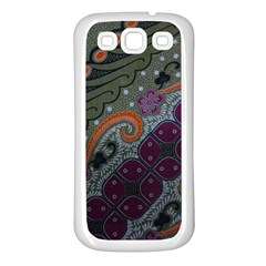 Batik Art Pattern  Samsung Galaxy S3 Back Case (White)