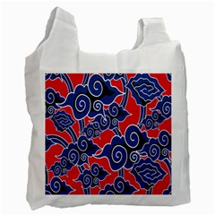 Batik Background Vector Recycle Bag (Two Side)