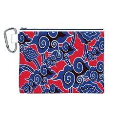 Batik Background Vector Canvas Cosmetic Bag (L)
