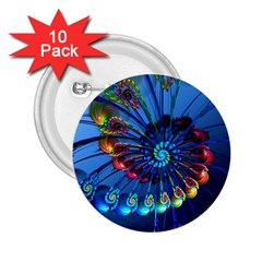 Top Peacock Feathers 2.25  Buttons (10 pack)