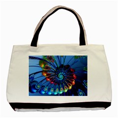 Top Peacock Feathers Basic Tote Bag (Two Sides)