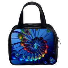 Top Peacock Feathers Classic Handbags (2 Sides)