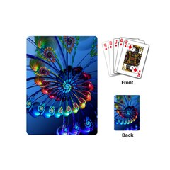 Top Peacock Feathers Playing Cards (Mini)