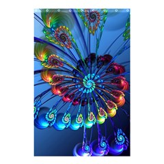 Top Peacock Feathers Shower Curtain 48  x 72  (Small)